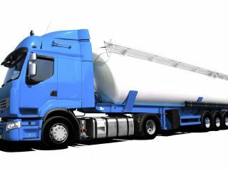 обои Голубой грузовик с канистрой фото