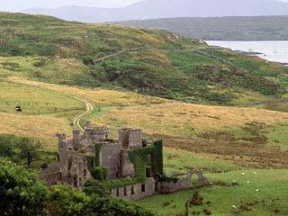 обои Замок Клифден в графстве Голуэй,   Ирландия фото