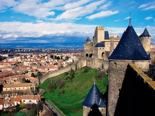обои Замок Комтал во Франции фото