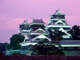 обои Замок Кумамото в Японии фото
