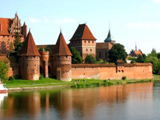 обои Замок Мальборк в Померании фото