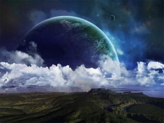 обои Планета в море фото