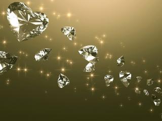 обои Алмазные сердца фото