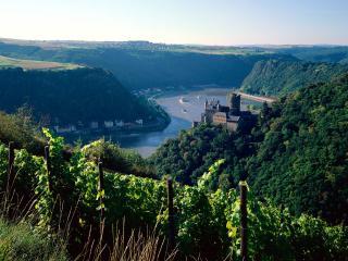 обои Крепость Бург Катц в Германии фото
