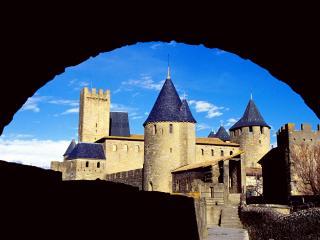 обои Замок Комтал в Каркассоне,   Франция фото