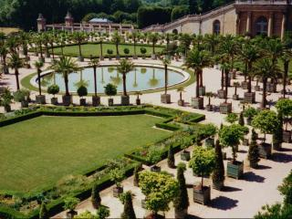 обои для рабочего стола: Рукотворный сад с бассейном
