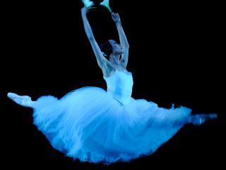 обои Балерина в голубом фото