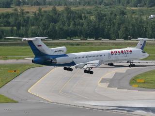 обои Ту-154 заходит на посадку фото
