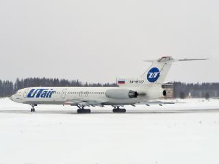 обои Белый самолет и белый снег фото