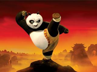 обои Мультяшная панда фото