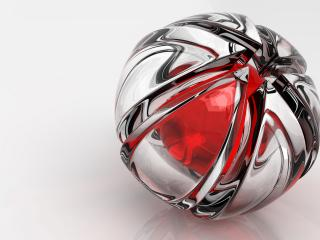 обои Абстрактный металлический шар фото