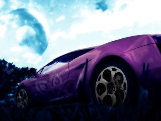 обои Фиолетовое авто фото