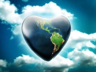 обои Большое сердце- планета фото