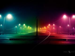 обои Ночные аллеи фото