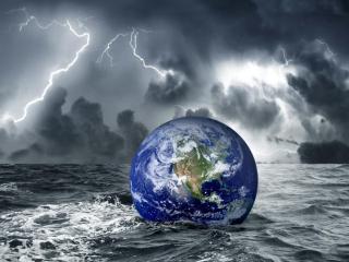 обои Земной шарик в океане фото