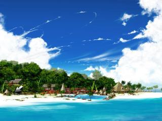 обои Тропический синий берег фото