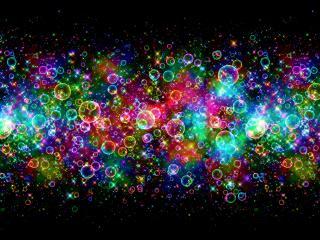 обои Разноцветные пузырьки фото