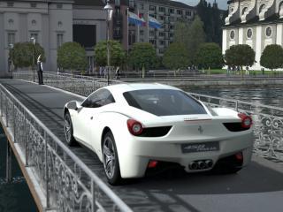 обои 458 italia  стоит на мосту фото