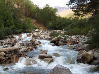 обои Горная река бурлит фото