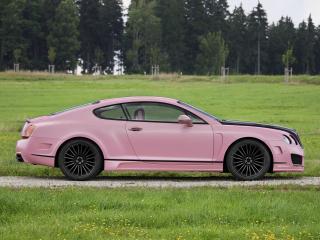 обои Mansory Bentley Continental GT Vitesse Rose 2009 сбоку фото