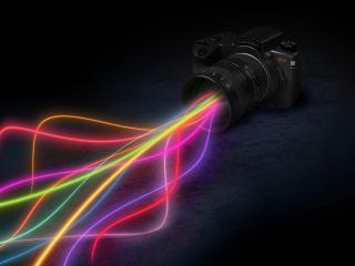 обои Радужный свет из фотоаппарата фото