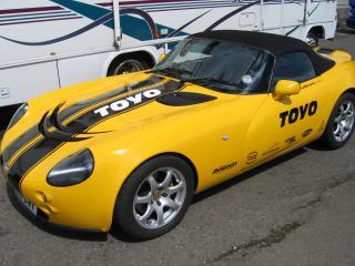 обои TVR Tamora желтая фото