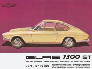 обои Glas 1300 GT Coupe рекламка фото