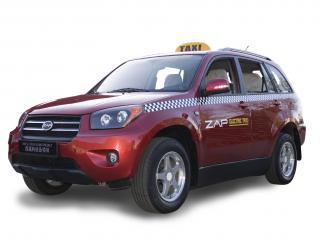 обои ZAP Electric Taxi SUV красный фото