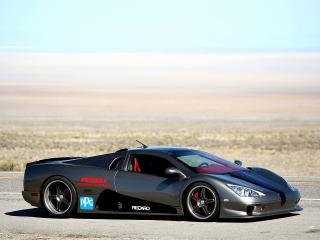 обои Shelby Super Cars Ultimate Aero World Speed Record Car на трассе фото