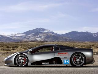обои Shelby Super Cars Ultimate Aero World Speed Record Car сбоку фото