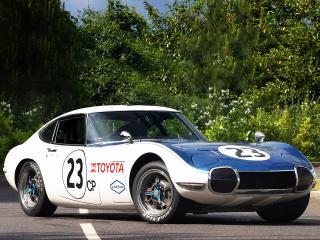 обои Toyota 2000GT Shelby 1968 боком фото
