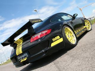 обои Cargraphic Porsche 911 GT3 RSC 4.0 черный фото