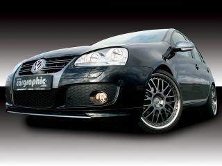 обои Cargraphic Volkswagen Golf спереди фото