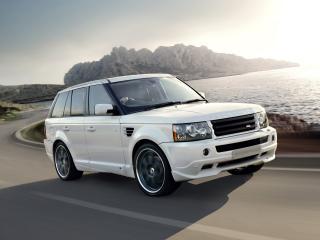 обои Overfinch Range Rover Sport 2008 белый фото
