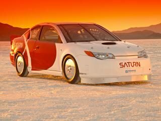 обои SO-CAL Saturn Ion Red Line Quad Coupe спереди фото