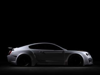 обои для рабочего стола: ASI Bentley Continental GT Tetsu GTR 2009 в темноте