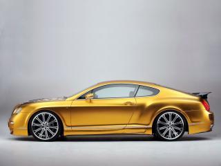 обои ASI Bentley W66 GTS Gold бок фото