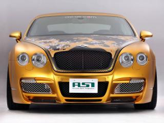 обои для рабочего стола: ASI Bentley W66 GTS Gold спереди