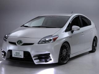 обои для рабочего стола: ASI Toyota Prius белый