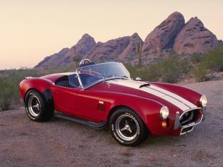обои AC Cobra (MkI) 1962 красный фото