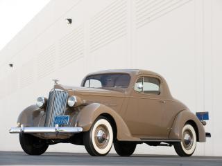 обои Packard Six Coupe 1937 спереди фото