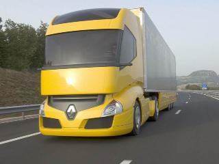 обои Желтый грузовик Renault фото