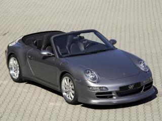 обои 9ff Porsche 911 Carrera Cabriolet (997) бок фото