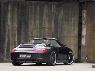 обои 9ff Porsche 911 Carrera Cabriolet (997) черный фото