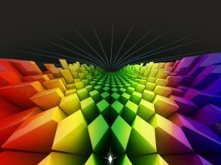 обои Геометрические фигуры разноцветны фото