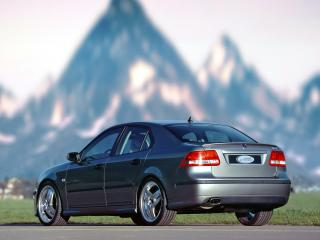 обои Saab 9-3 Sport Sedan Aero Performance by Hirsch сзади фото