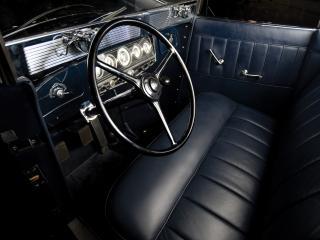 обои Auburn Twelve Convertible Sedan синий салон фото