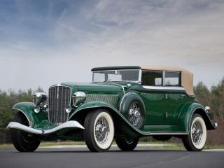 обои Auburn Twelve Phaeton Sedan (1250) 1934 зеленый фото