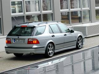 обои Saab 9-5 Aero Wagon Performance by Hirsch зад фото