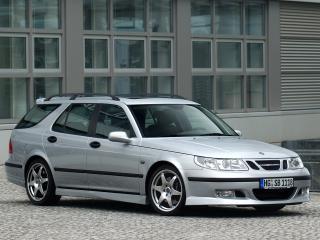 обои Saab 9-5 Aero Wagon Performance by Hirsch серый фото